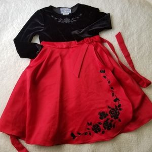 Girls beautiful red party dress